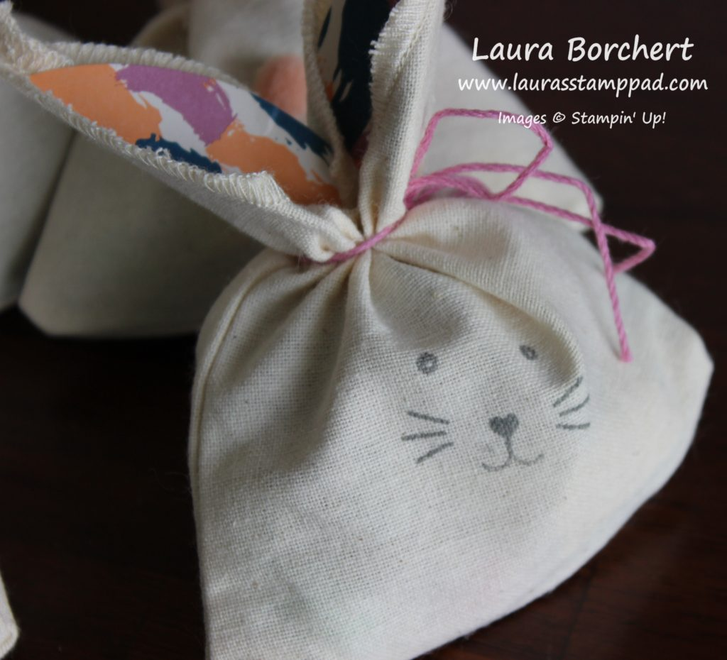 Easter Bunny Treat Bags, www.LaurasStampPad.com