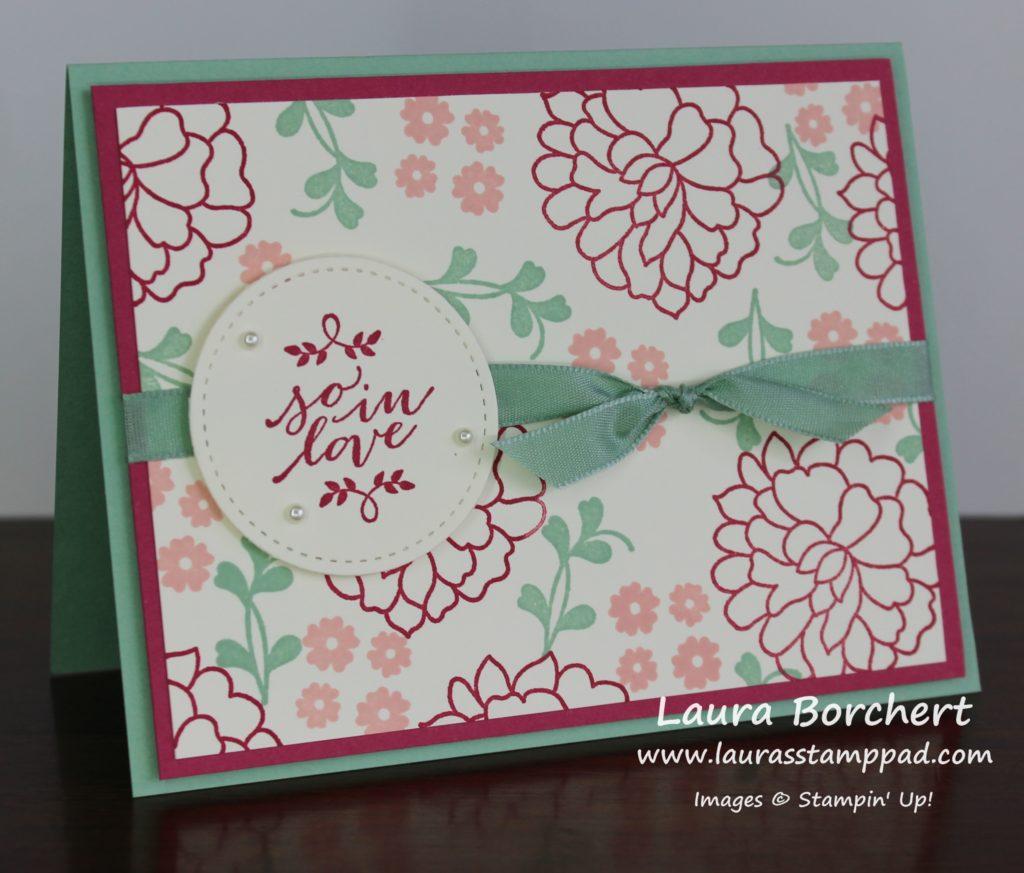 Stamping Your Own Designer Paper, www.LauraStampPad.com