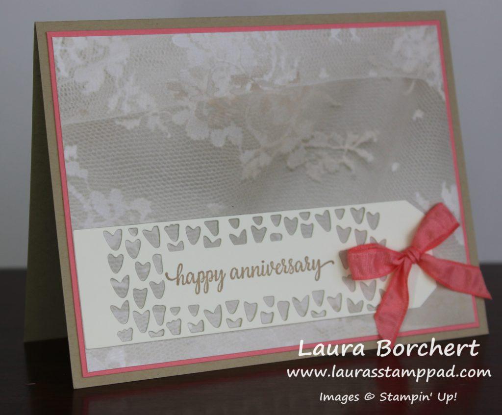 Anniversary Lace & Hearts, www.LaurasStampPad.com