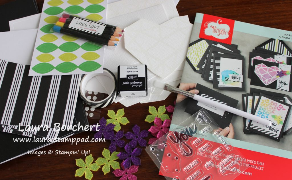 April 2017 Paper Pumpkin Kit - A Sara Thing, www.LaurasStampPad.com