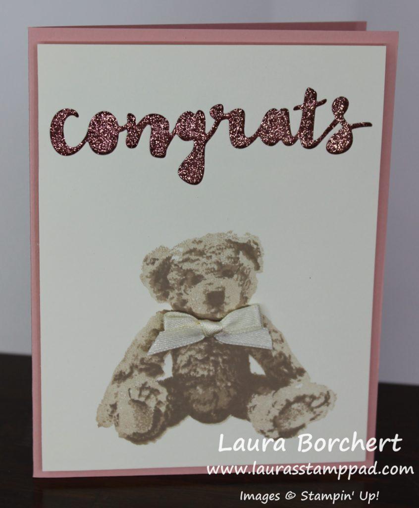 Baby Bear Peek-A-Boo Glimmer, www.LaurasStampPad.com