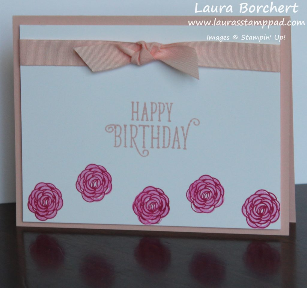 Simple Birthday Roses, www.LaurasStampPad.com