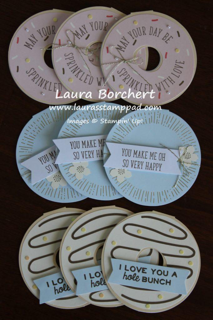 Donut Cards, www.LaurasStampPad.com