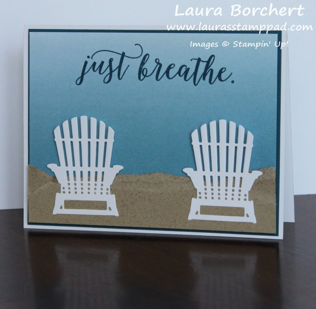 Creating a Perfect Beach Scene, www.LaurasStampPad.com