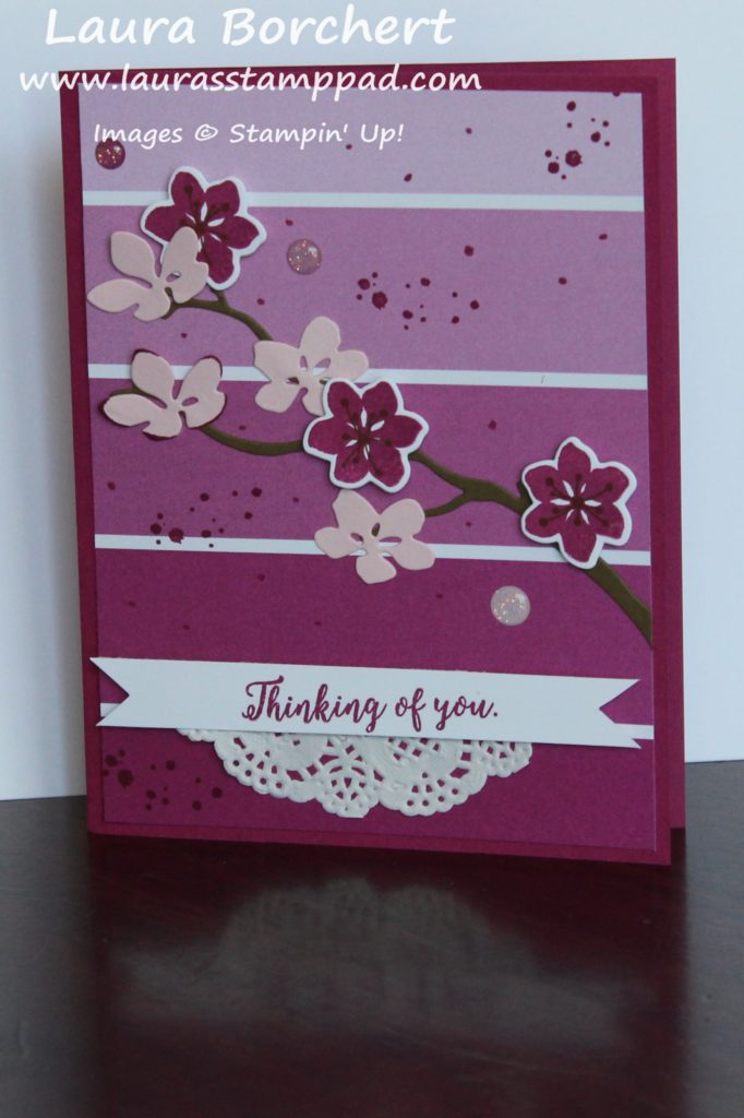 Cheerful Cherry Blossoms Tree, www.LaurasStampPad.com