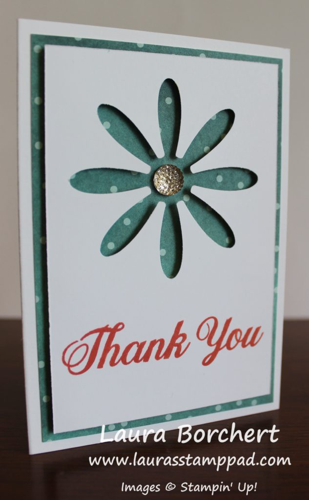Two in One Daisy Card, www.LaurasStampPad.com