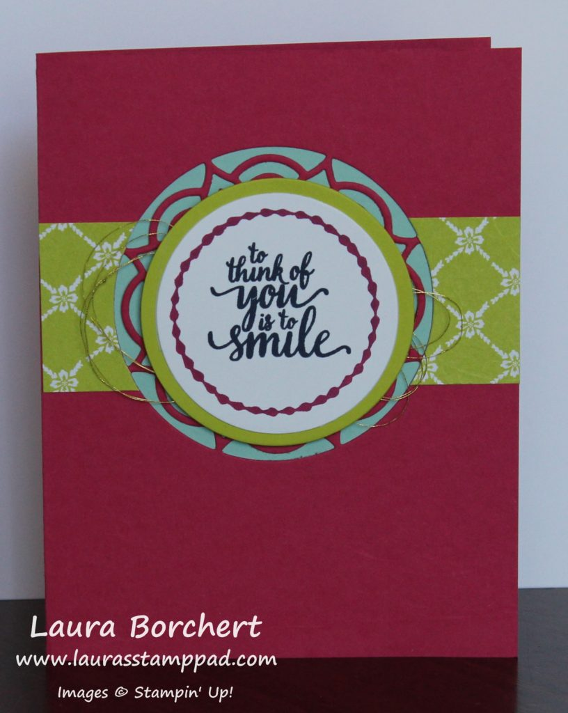 To Think Of You Is To Smile, www.LaurasStampPad.com