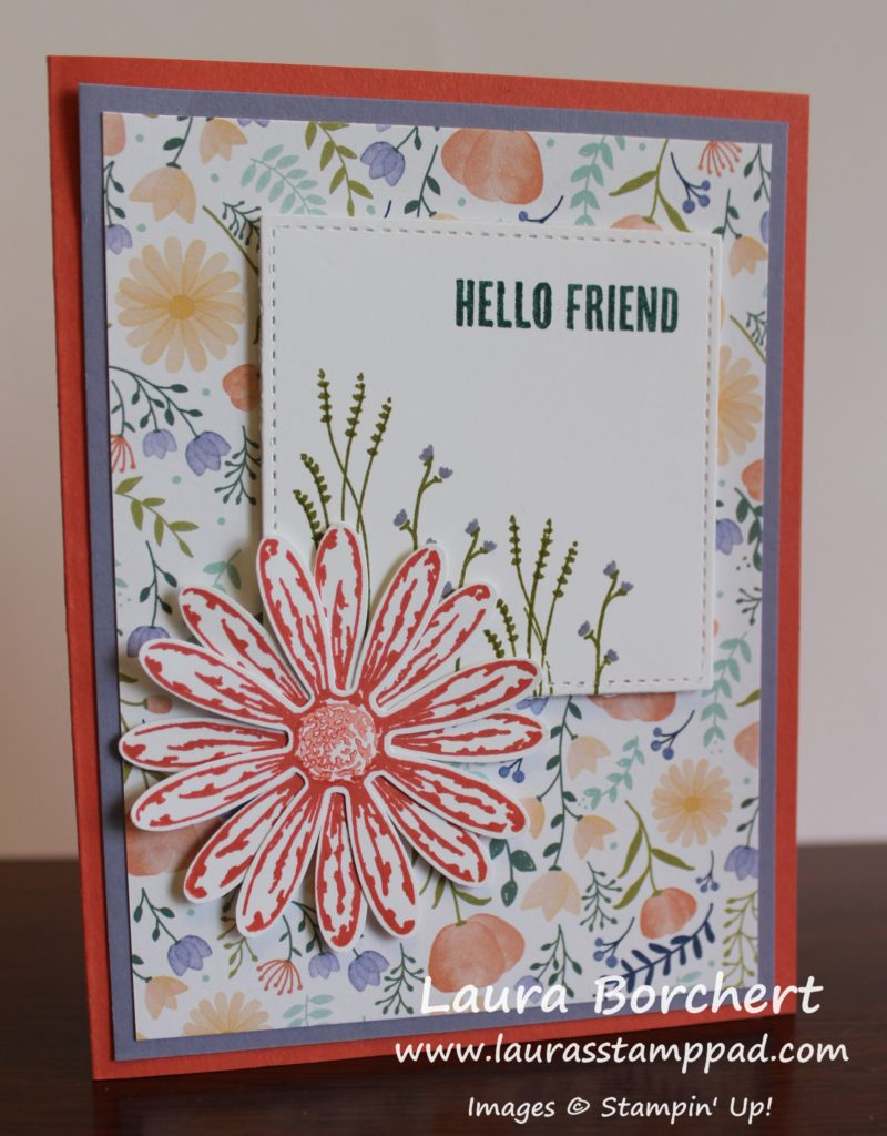 Hello Friend Daisy Card, www.LaurasStampPad.com