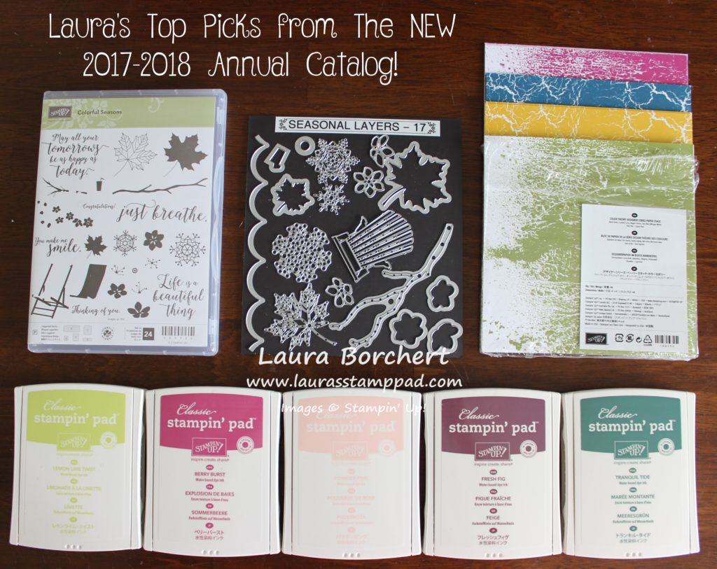 Top 5 Must Haves New Catalog, www.LaurasStampPad.com