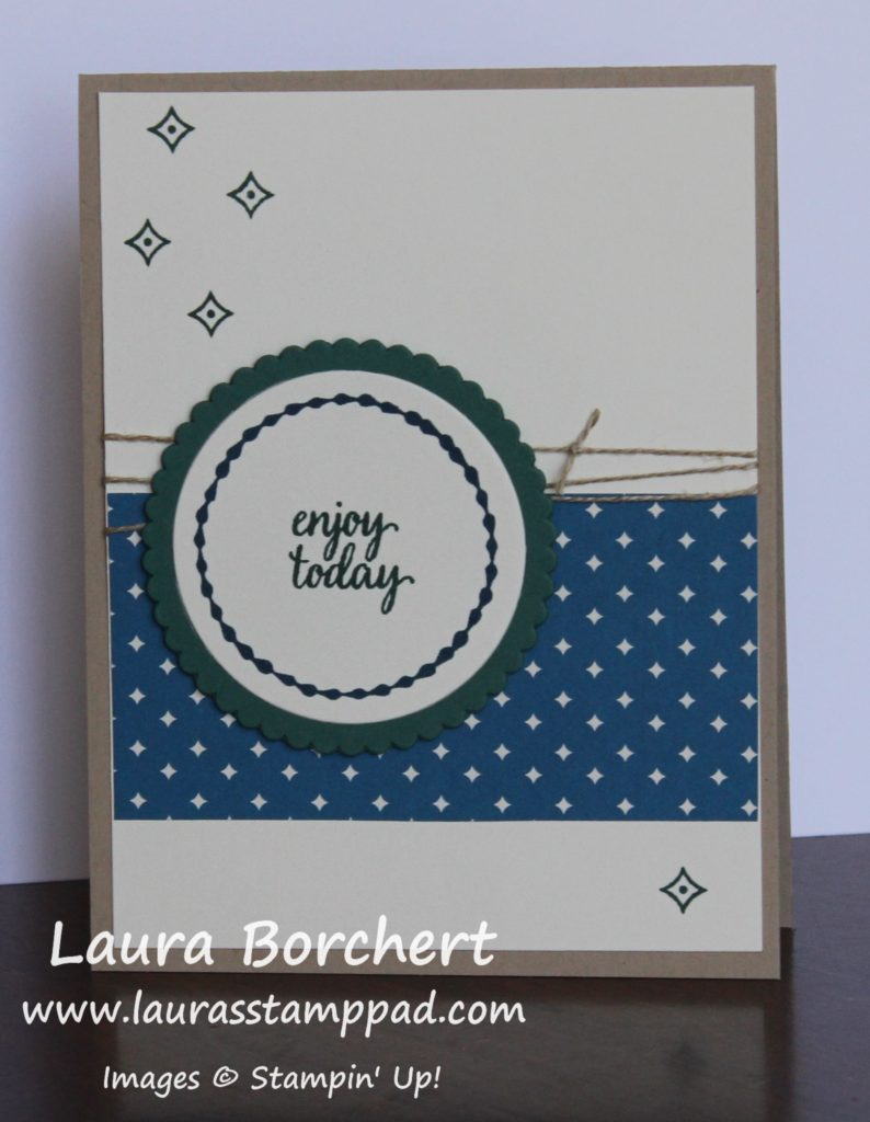 Masculine Card Using Eastern Beauty, www.LaurasStampPad.com