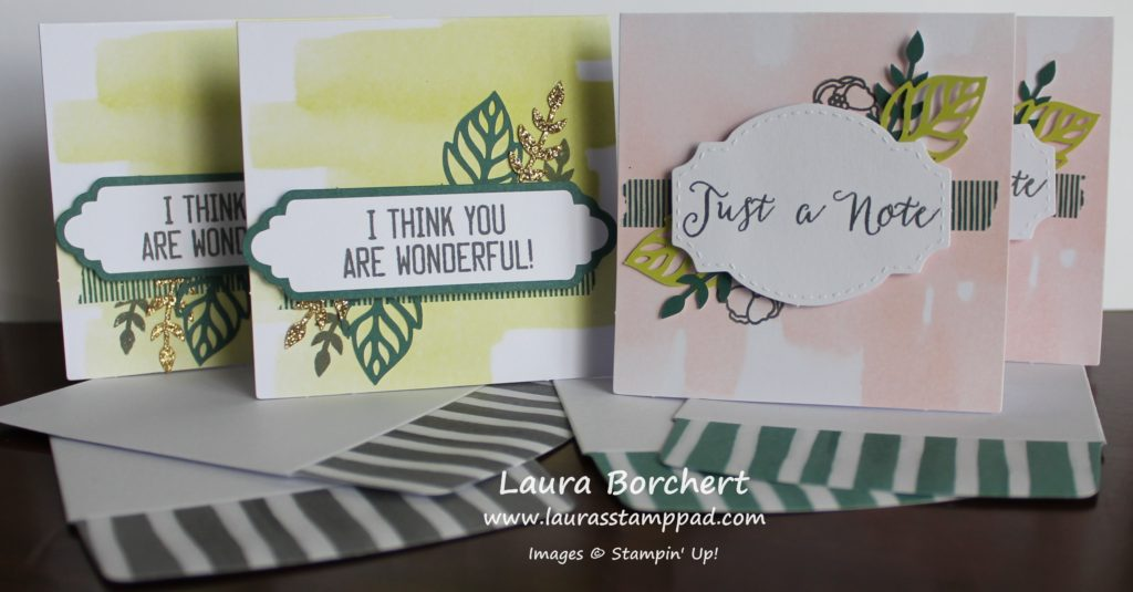 Mini Cards, www.LaurasStampPad.com