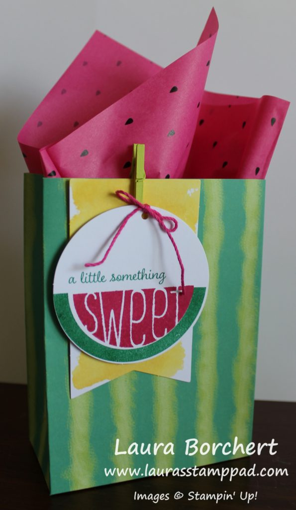 Watermelon Bag, www.LaurasStampPad.com