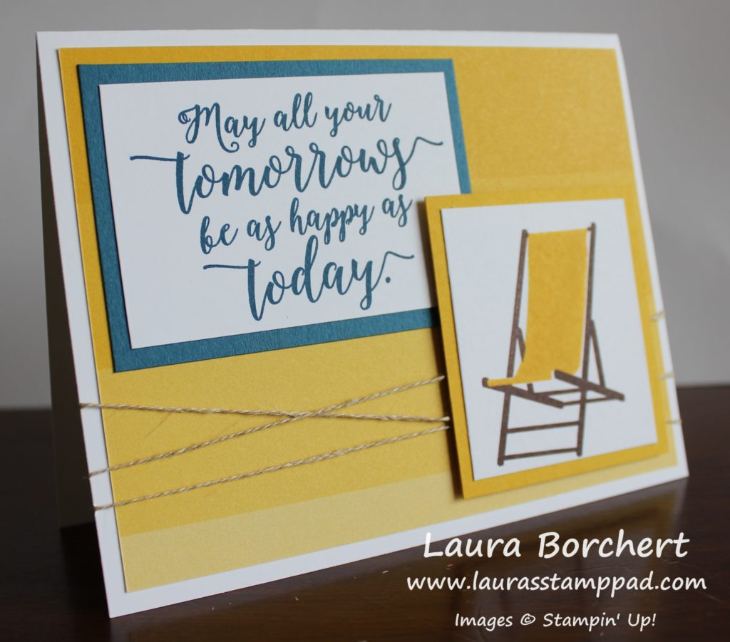 Yellow Ombre Beach Chair, www.LaurasStampPad.com
