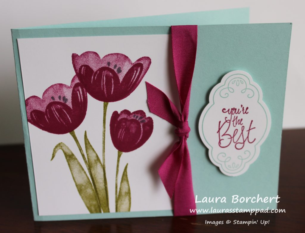 Tranquil Tulips Hostess Set, www.LaurasStampPad.com