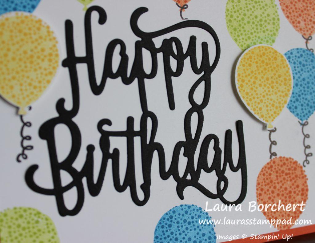 Birthday Balloons, www.LaurasStampPad.com