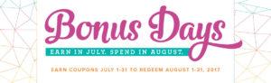 Bonus Days, www.LaurasStampPad.com