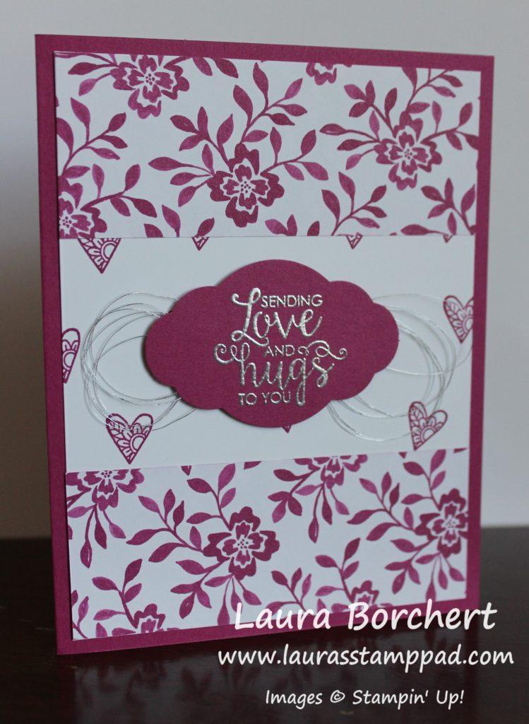 Sending Love & Hugs to You, www.LaurasStampPad.com