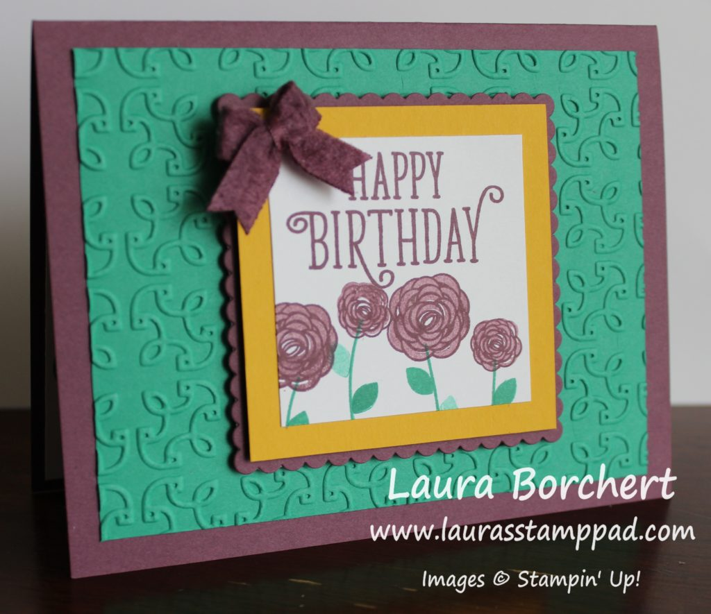 Texture Layers Card, www.LaurasStampPad.com