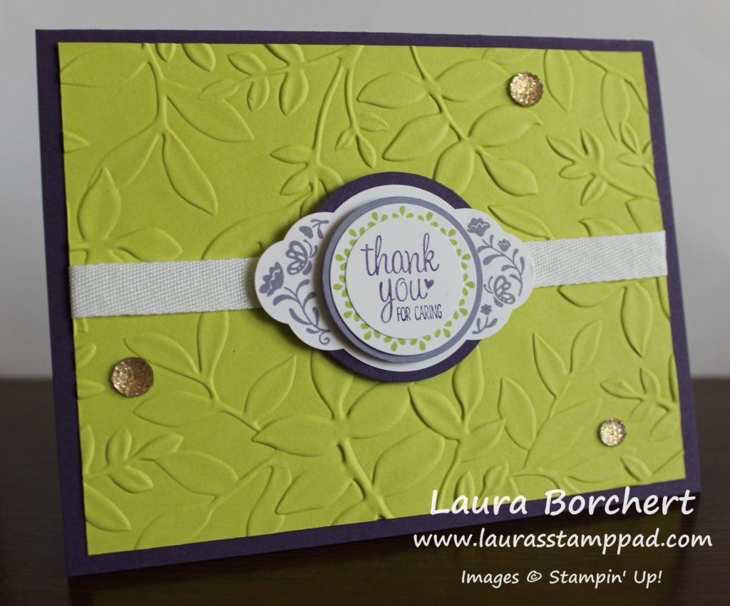 Pretty Label Punch & Layered Circles, www.LaurasStampPad.com