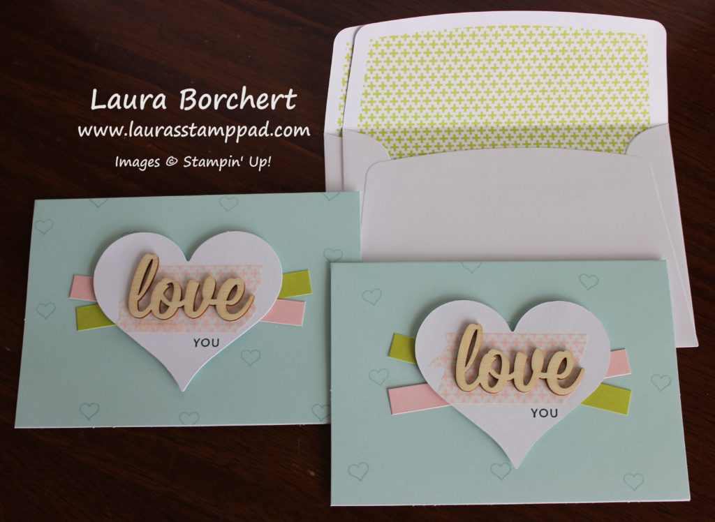 Love You Hearts, www.LaurasStampPad.com