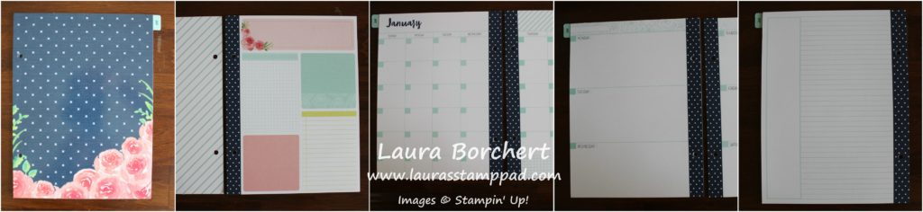 Monthly Planner Pages, www.LaurasStampPad.com
