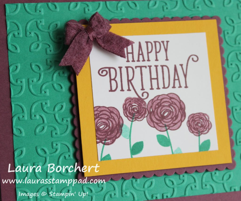 Texture on a Card, www.LaurasStampPad.com