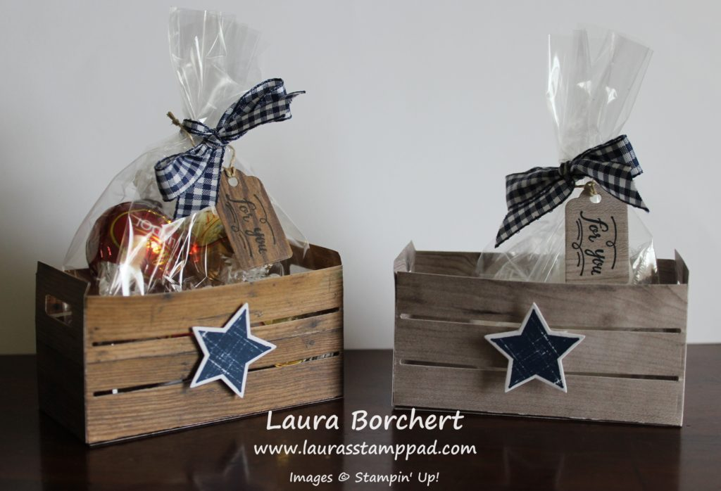 Wooden Crate of Chocolate, www.LaurasStampPad.com