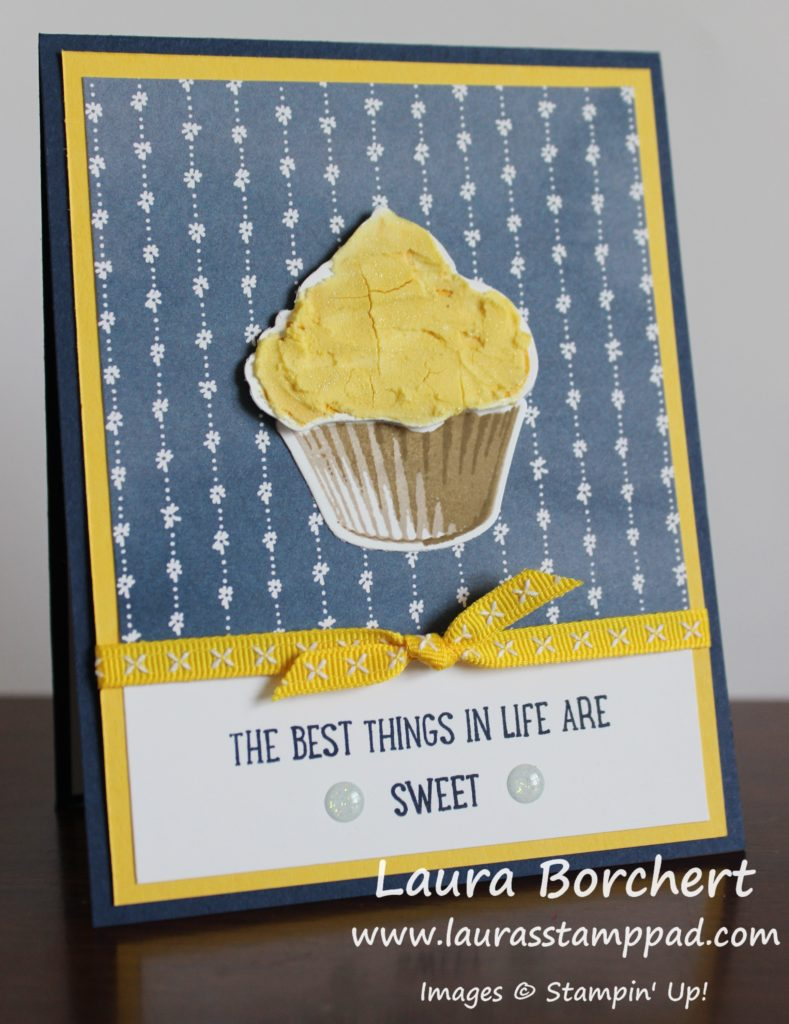 Lemon Cupcakes are my favorite, www.LaurasStampPad.com