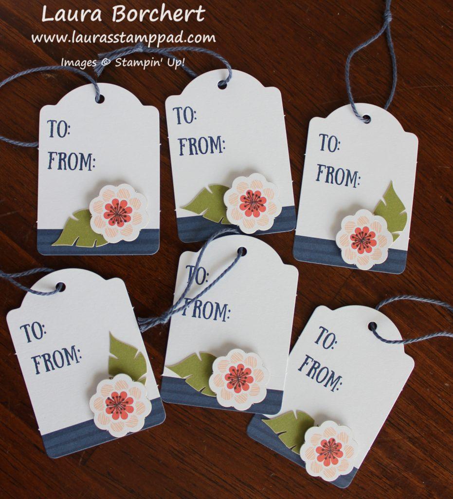 Floral Tags, www.LaurasStampPad.com