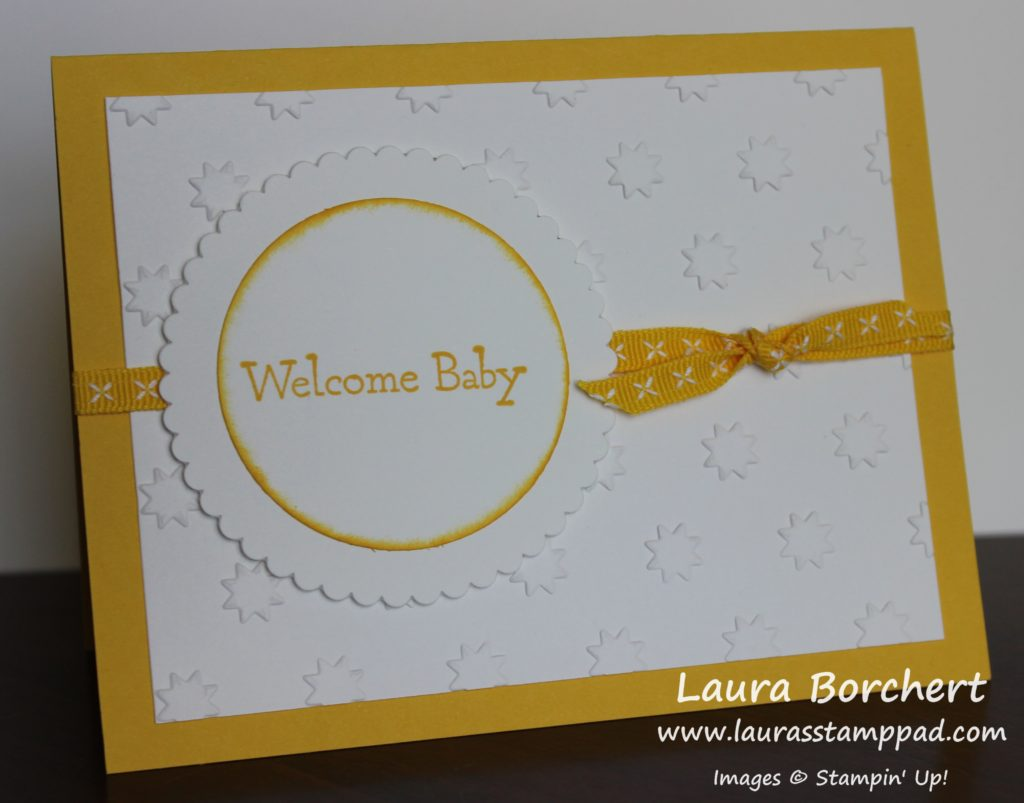 Welcome Baby, www.LaurasStampPad.com