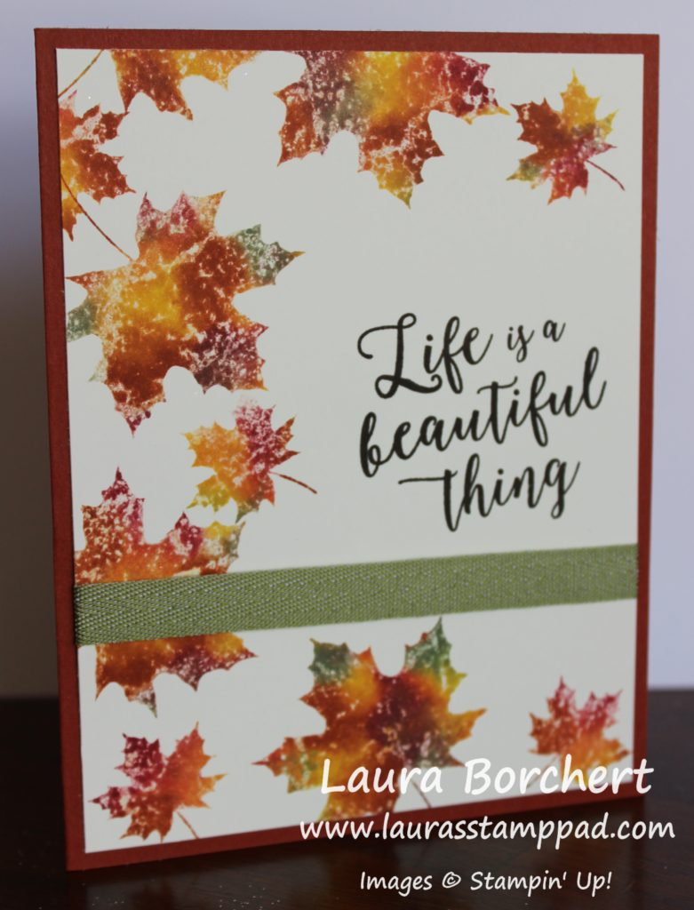 Fall Leaves, www.LaurasStampPad.com