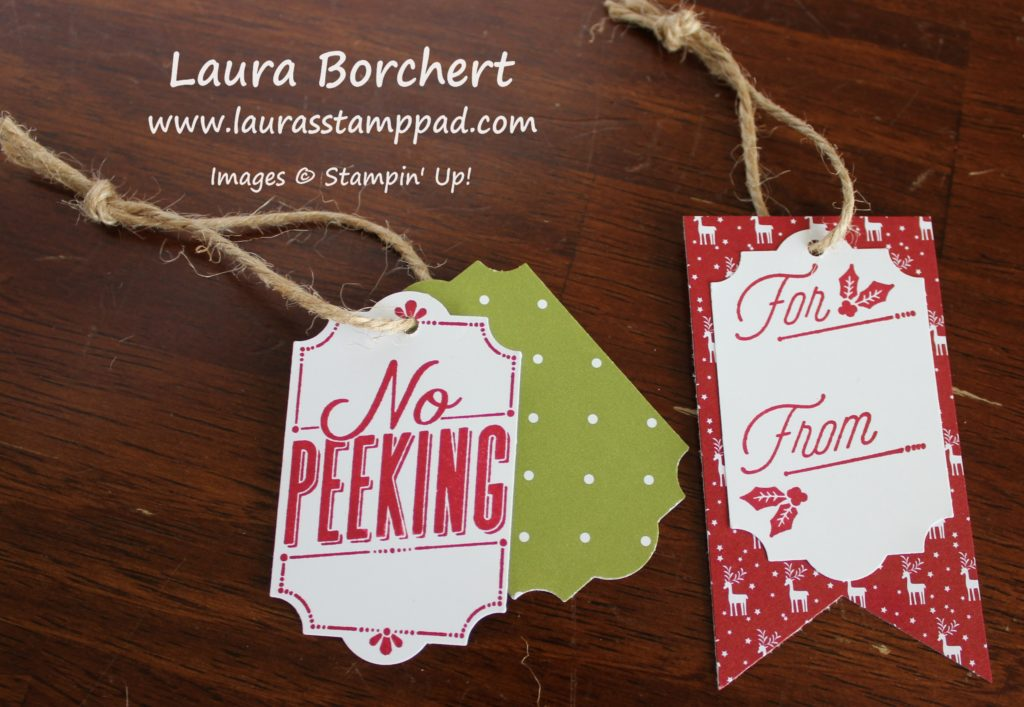 Gift Tags, www.LaurasStampPad.com
