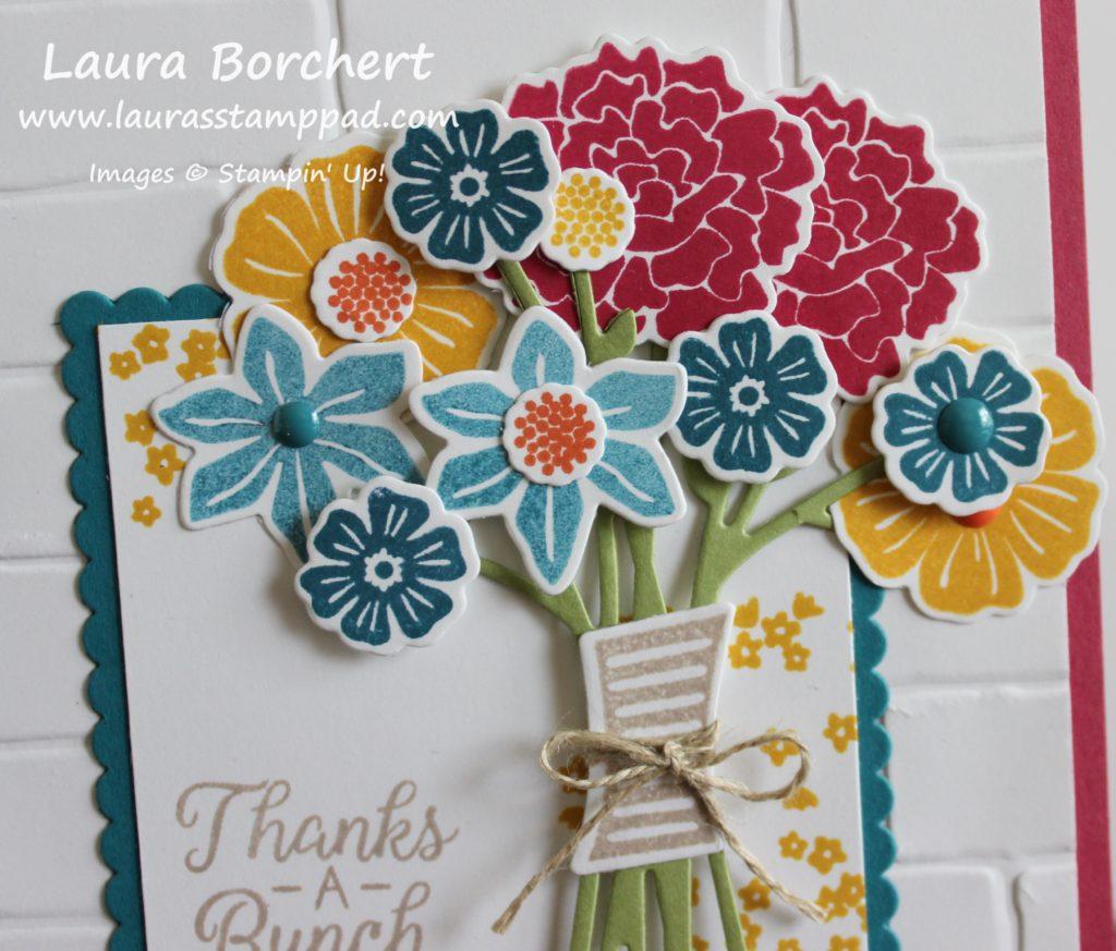 Floral Arrangement, www.LaurasStampPad.com