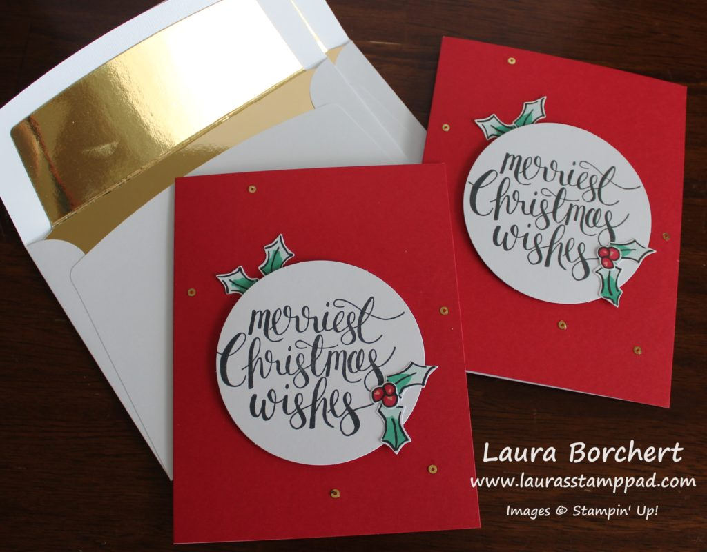 Merriest Christmas Wishes, www.LaurasStampPad.com