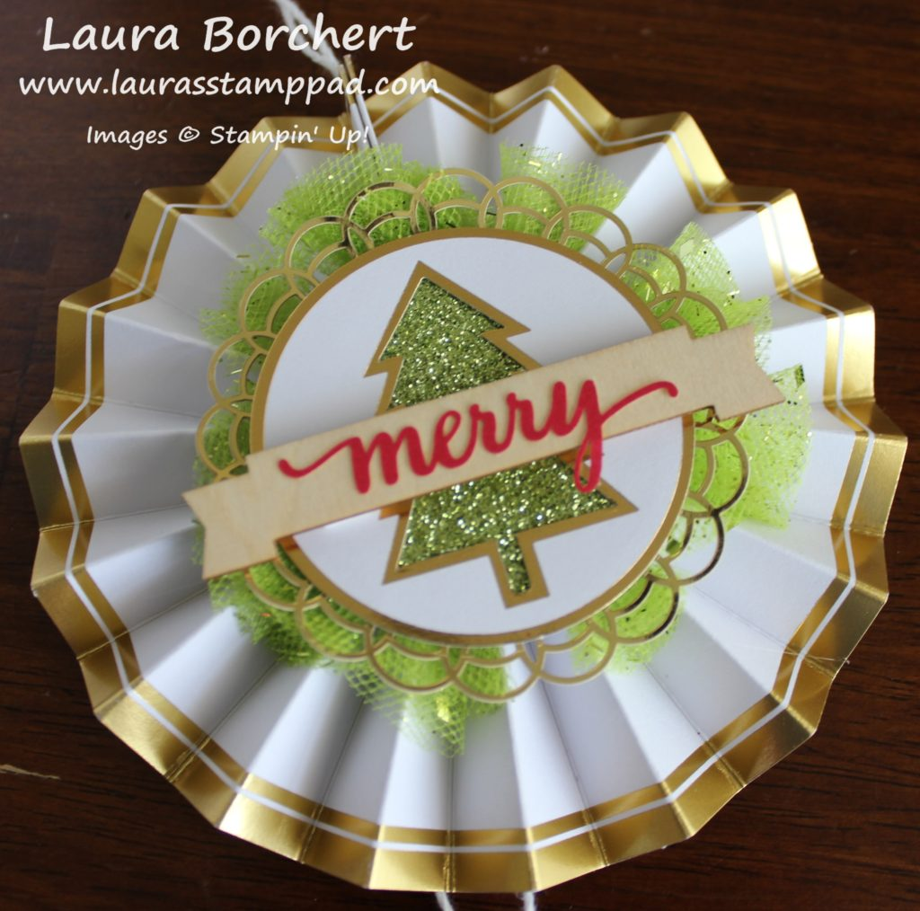 Homemade Christmas Ornament, www.LaurasStampPad.com
