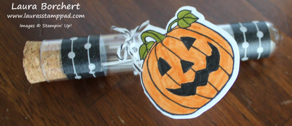Pumpkin Test Tube, www.LaurasStampPad.com