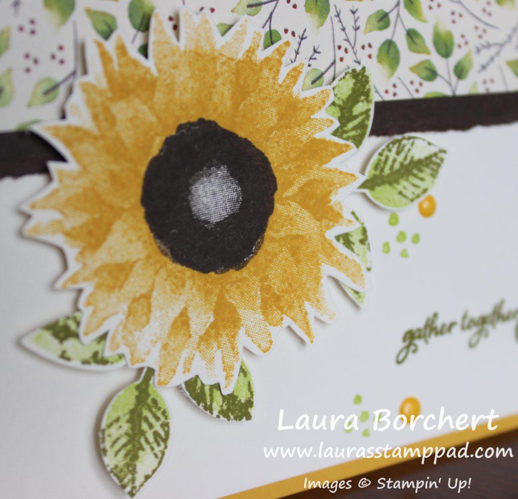 Sunflower, www.LaurasStampPad.com