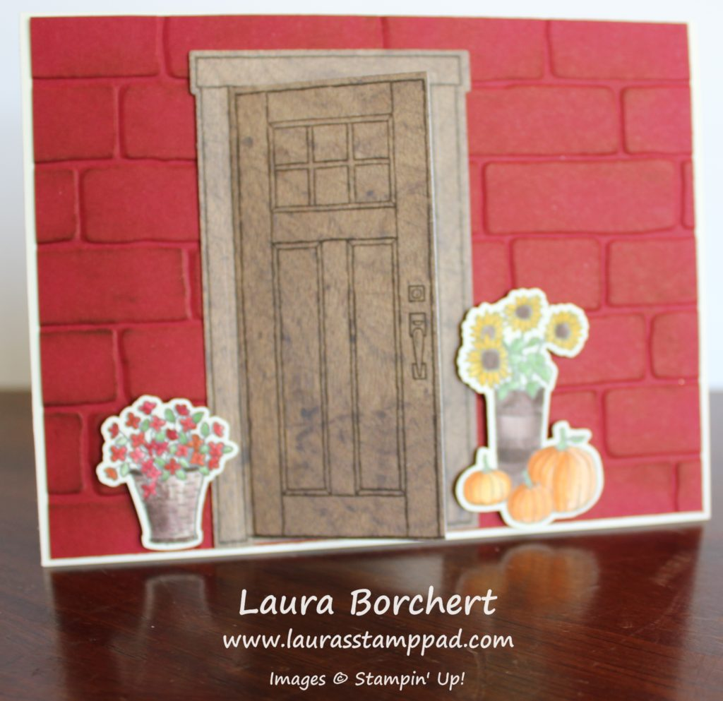 Front Door Is Ready For Fall, www.LaurasStampPad.com