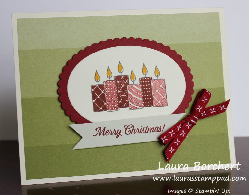 Christmas Candles, www.LaurasStampPad.com