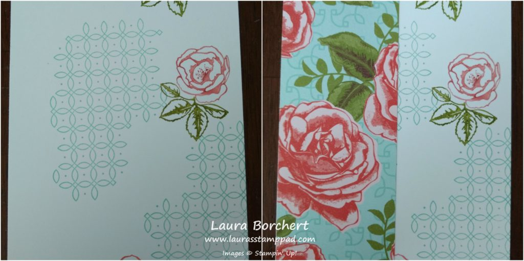Collage Stamped Roses, www.LauraStampPad.com