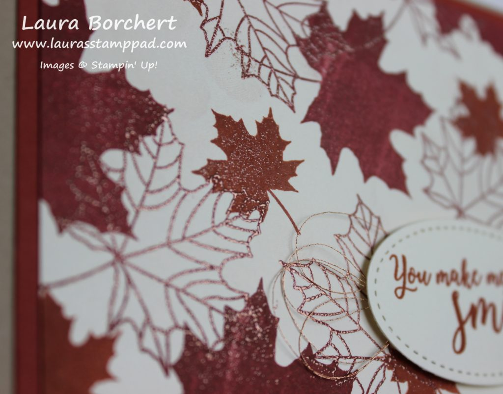 Copper Leaves, www.LaurasStampPad.com