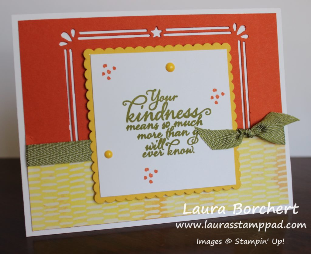 Card Front Builder Framelit Differently, www.LaurasStampPad.com