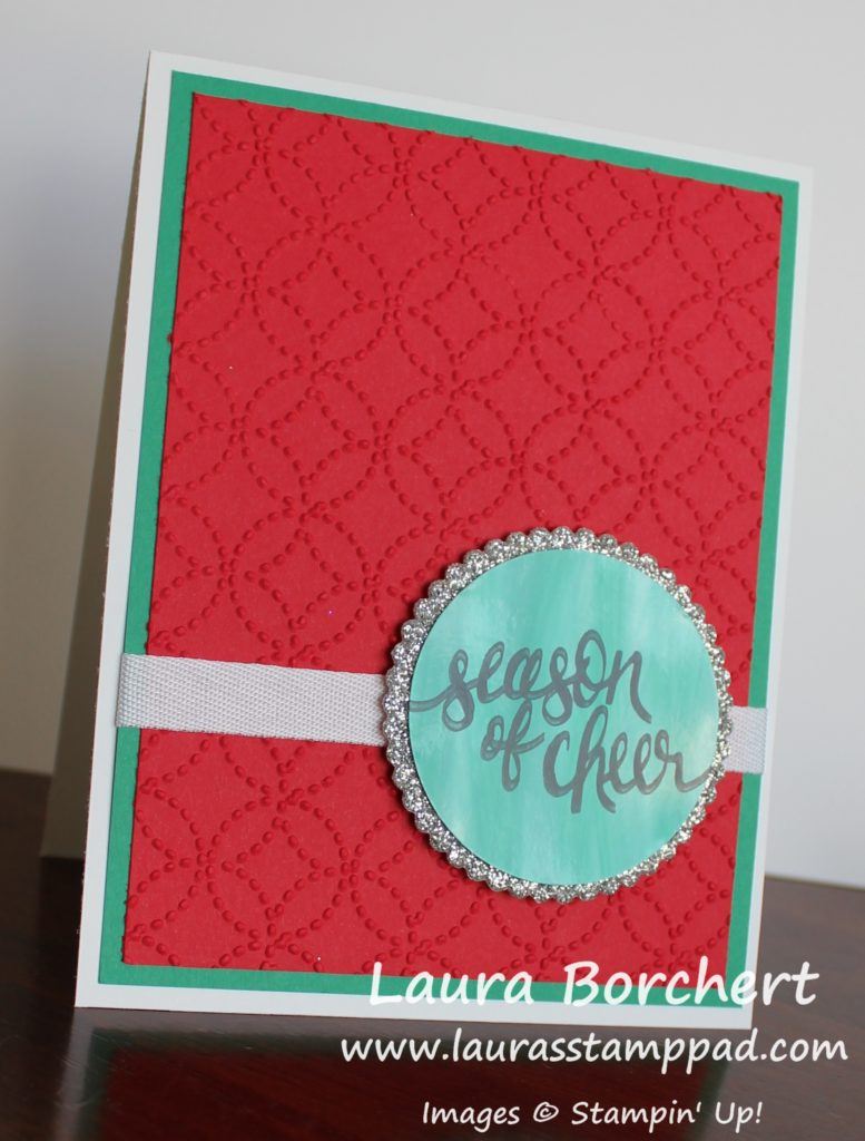 Creating a Glossy Greeting, www.LaurasStampPad.com