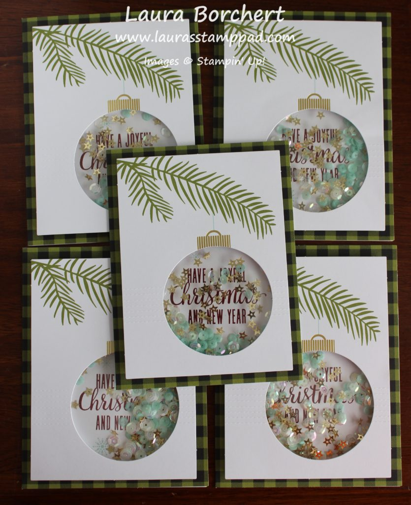 Ornament Shaker Card, www.LaurasStampPad.com
