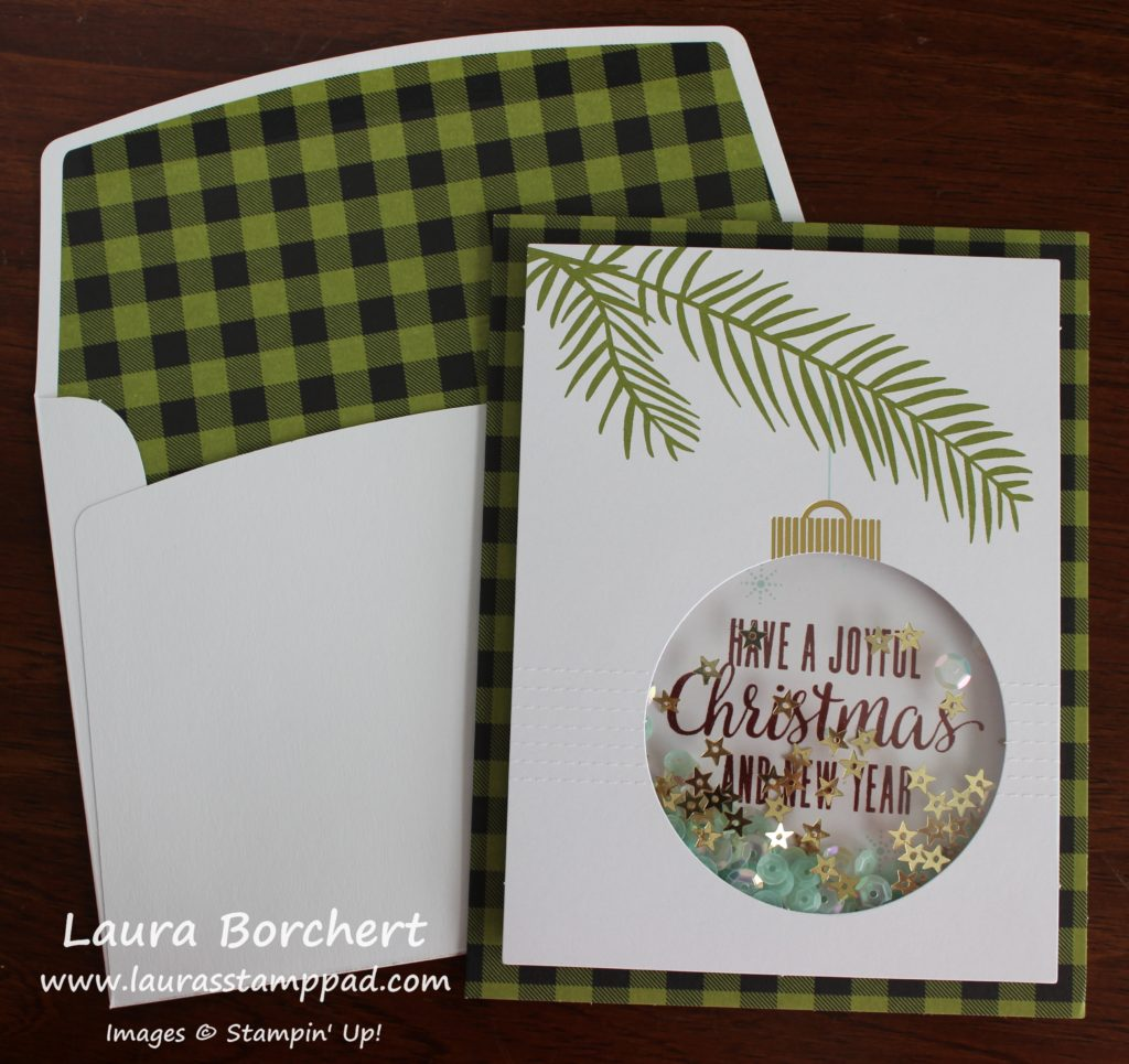 Plaid Envelope Liner, www.LaurasStampPad.com