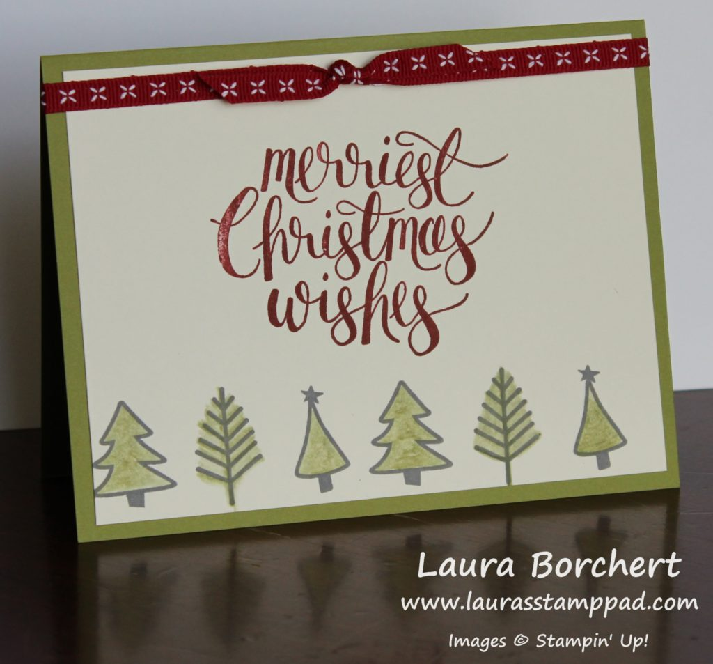 Quick & Simple Watercolor Christmas, www.LaurasStampPad.com