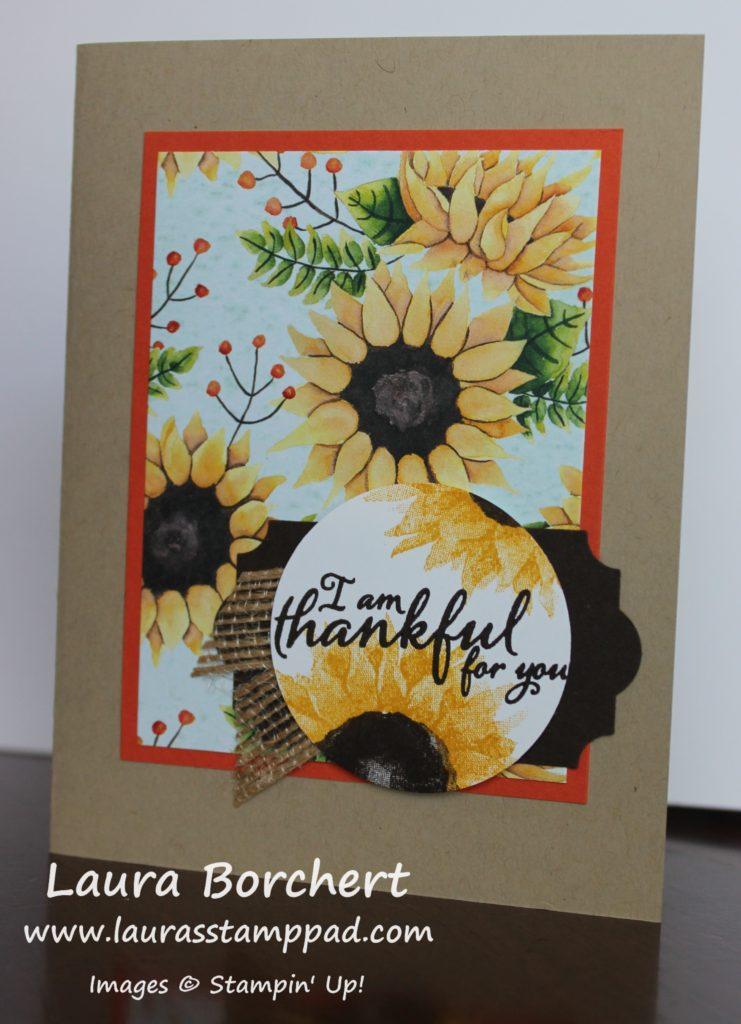 I Am Thankful For You, www.LaurasStampPad.com