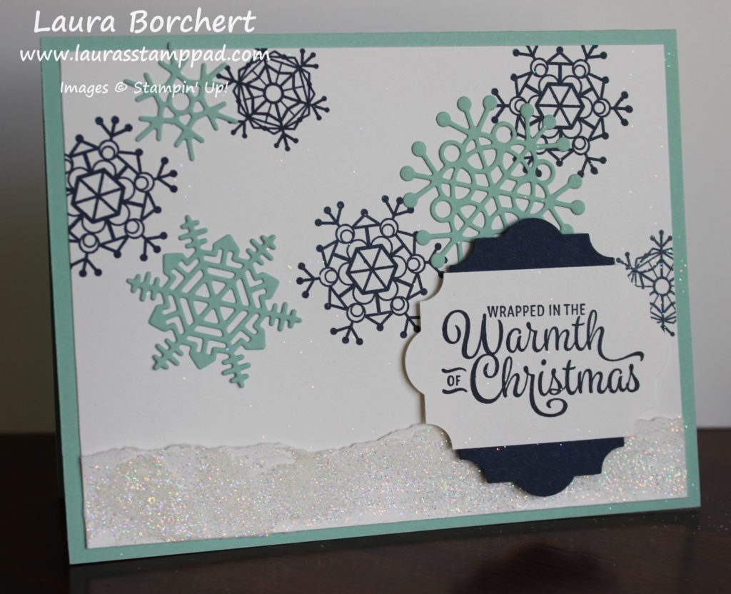 Adding Snow with Embossing Paste, www.LaurasStampPad.com