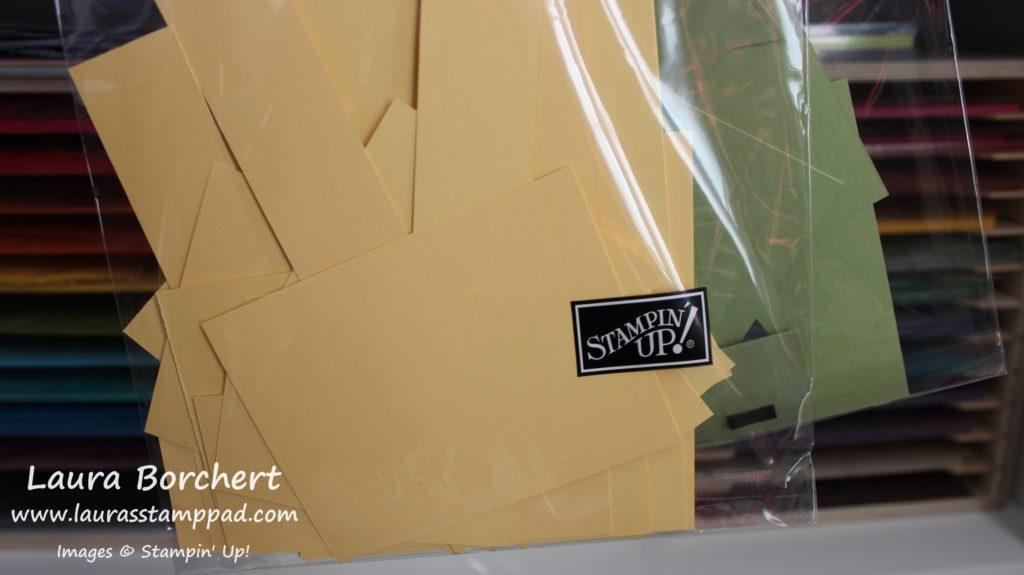 Cardstock Scraps, www.LaurasStampPad.com
