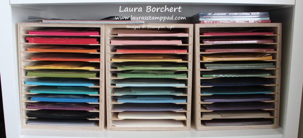 Paper Scraps Storage Tips, www.LaurasStampPad.com